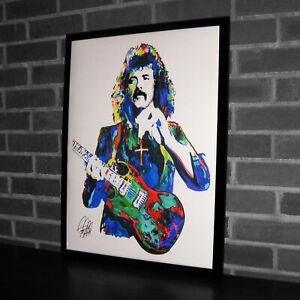 Tony Iommi Black Sabbath Guitar Heavy Metal Music Print Poster Wall Art 18x24