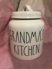 Rae Dunn GRANDMA'S KITCHEN Canister LL Large Letter Farmhouse Artisan Collection