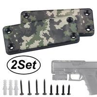 2x 50lb Magnet Concealed Pistol Gun Holder Mount under table Truck desk Rating