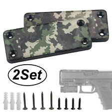 2x 50lb Magnet Concealed Pistol Gun Holder Mount under table Truck desk Rating