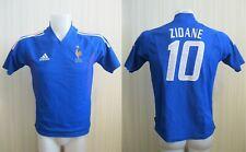 BOYS France team #10 Zidane 2002/2003/2004 Home Sz S adidas shirt maillot jersey