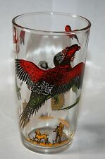 Vintage Signed Hazel Atlas Bird Hunter Collection Pheasants Hunting Dog Beauty!