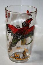 Vintage Signed Hazel Atlas Bird Hunter Collection Pheasants Hunting Dog Beauty!