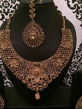 Latest Designer Gold Lct Indian Bollywood Jewellery Necklace set Wedding Bridal