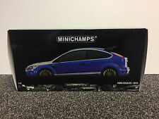 Ford Focus RS 2010 Le Mans Blue 1972 Ford Capri RS2600 Tribute 1:18 Minichamps