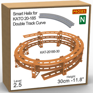 """N Helix For KATO 20-185 Double Track R:447/480mm or Similar - Height: 30cm/11.8"""""""
