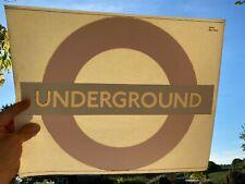 ORIGINAL LONDON UNDERGROUND SIGN TRAIN DECAL STICKER UNUSED c1970-80