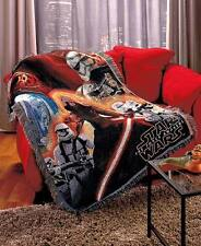 Disney Star Wars VII FORCE AWAKENS TAPESTRY THROW Woven Blanket Wall Hang Afghan