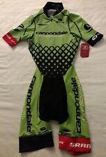 New 2016 Women's Sugoi Cannondale CX World UltraAero 2 SS Cycling Skinsuit, XS
