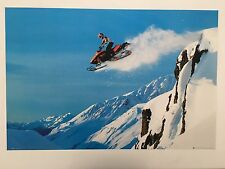 SNOWMOBILE RACING,SKI-DOO,PHOTO BY RON NIEBRUGGE,AUTHENTIC 1990's  POSTER
