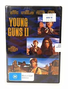 Young Guns II 2 (DVD, 1990) Brand New & Sealed Region 4 Free Post