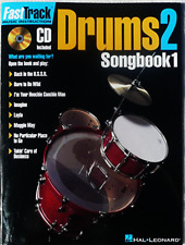 Fast Track Drums VOL 2 - SONGBOOK 1 - Learn to Play The Drums BOOK & CD - New !