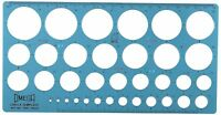 CIRCLES STENCIL TEMPLATE SIZES 1mm to 36mm DRAWING SCHOOL COLLEGE MATHS CIRCLE