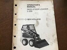 Sperry New Holland L 250 Skid Steer Loader Operators Manual Original 70 Pages