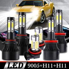 For Honda Accord 2014 Bright 9005 H11 LED Headlight High&Low Beam+Fog Light Kits