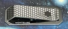 BRAND NEW MONTBLANC MONEY CLIP IN STAINLESS STEEL WITH HONEYCOMB PATTERN
