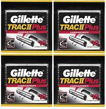 吉列 Trac II plus 剃须刀片填充墨盒 - 40 个 (散装包装)