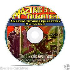 Amazing Stories Quarterly, 21 Vintage Pulp Magazines, Golden Age Fiction DVD C30