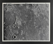 1960 Lunar Moon Map Photo E5-a McDonald Observatory Plate M191 Craters Astonomy