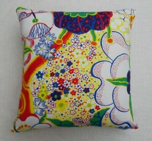 "JOSEF FRANK Fabric Cushion Cover 'NIPPON' - 18"" - 100% LINEN - DOUBLE SIDED"