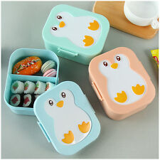Kids Cute Cartoon Small Bento Box Lunch Food Container Microwavable Plastic New