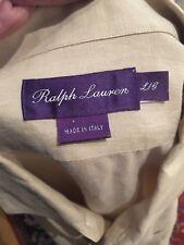 Ralph Lauren Purple Label 100% Linen Shirt Large