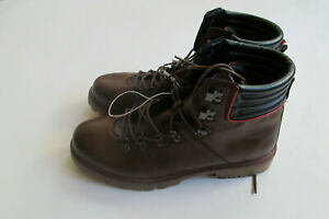 Tommy Hilfiger USA Leather  man brown/blue/red/white  boots sz 12  BRAND NEW