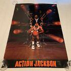 Vintage NIKE Basketball Poster Mark ACTION JACKSON New York Nicks. Authentic