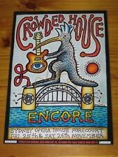 CROWDED HOUSE - NEIL FINN - SIGNED AUTOGRAPHED ENCORE 2016 Australia Tour Poster