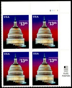 US Scott # 3648 Express Mail Plate Block Of 4 Stamps MNH, Capitol Dome