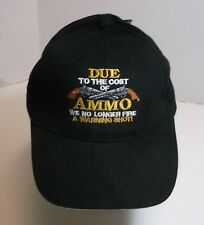 "NEW ""No Warning Shot"" Embroidered Cap, Trucker Hat, Adjustable One-Size, NWT"