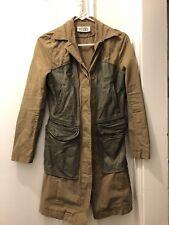 Martin Margiela/ Antwerp Six-Khaki Cotton And Leather Coat