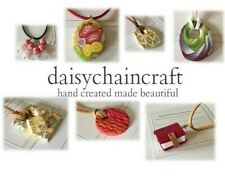 February Flora  Beautifully Handmade Pendant Collection by daisychaincraft