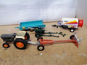 Job lot of Vintage Britains Ltd ' Farm Machinery' 1/32 for spares or repair