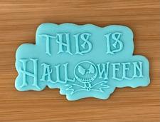 This Is Halloween Embosser Stamp, Acrylic Embosser for Cookies, Cupcakes