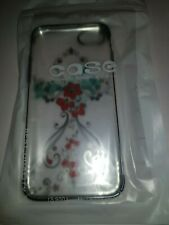 iPhone 6 7 & 8 Clear Back Cover FLOWERS by Kingxbar SWAROVSKI ELEMENTS NEW