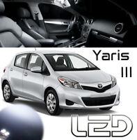 Toyota YARIS 3 - 4 Ampoules LED éclairage intérieur plafonnier Coffre Habitacle