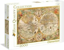 Clementoni Quality Collection großes Puzzle Antike Karte 2000 Teile Weltkarte