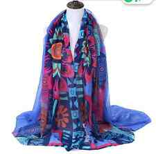 Desigual Ladies women Scarf Shawl Pashmina Beach Wrap cotton voile 180cmsX110cms