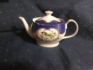 Teapot By Grace's Teaware Royal Blue Beautiful Birds Sparrow