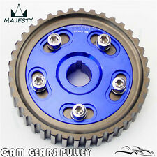 Adj Cam Gear Pulley Timing Gear For Honda SOHC D15 D16 D-Series Engine Blue