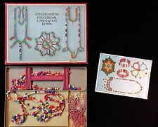 Boxed Set - Kindergarten Educational Composition Beads.  Made in Germany. c1930s