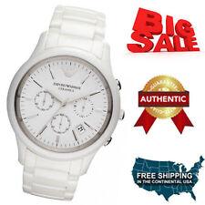 New Emporio Armani Unisex AR1453 White Ceramica Matte Watch