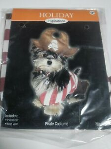 Dog Pirate Halloween costume size Small Hat and vest