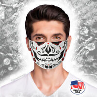 Sugar skull face,mouth mask-Washable and Reusable-Day of the dead -Free Shipping