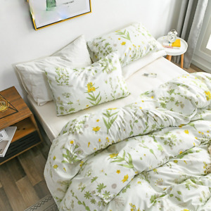 Greed Floral Bedding Sets Duvet Cover Pillowcases Queen King Size Home Textiles