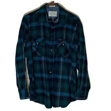 Vintage Northwest Territory Flannel 100% Acrylic Men's Size Large Green