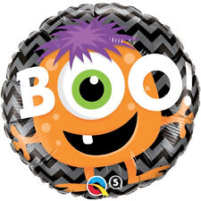 "HALLOWEEN PARTY SUPPLIES BALLOON 18"" BOO! MONSTER HORROR PARTY QUALATEX BALLOON"