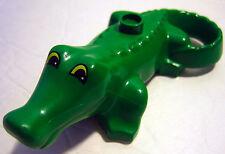 Lego Duplo GREEN ALLIGATOR Animal Figure Zoo Replacement Minifigure Yellow Eyes