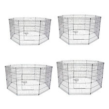 """8 Panel Pet Playpen Fold Exercise Cage Fence Enclosure Dog Puppy 24"""" 30"""" 36"""" 42"""""""